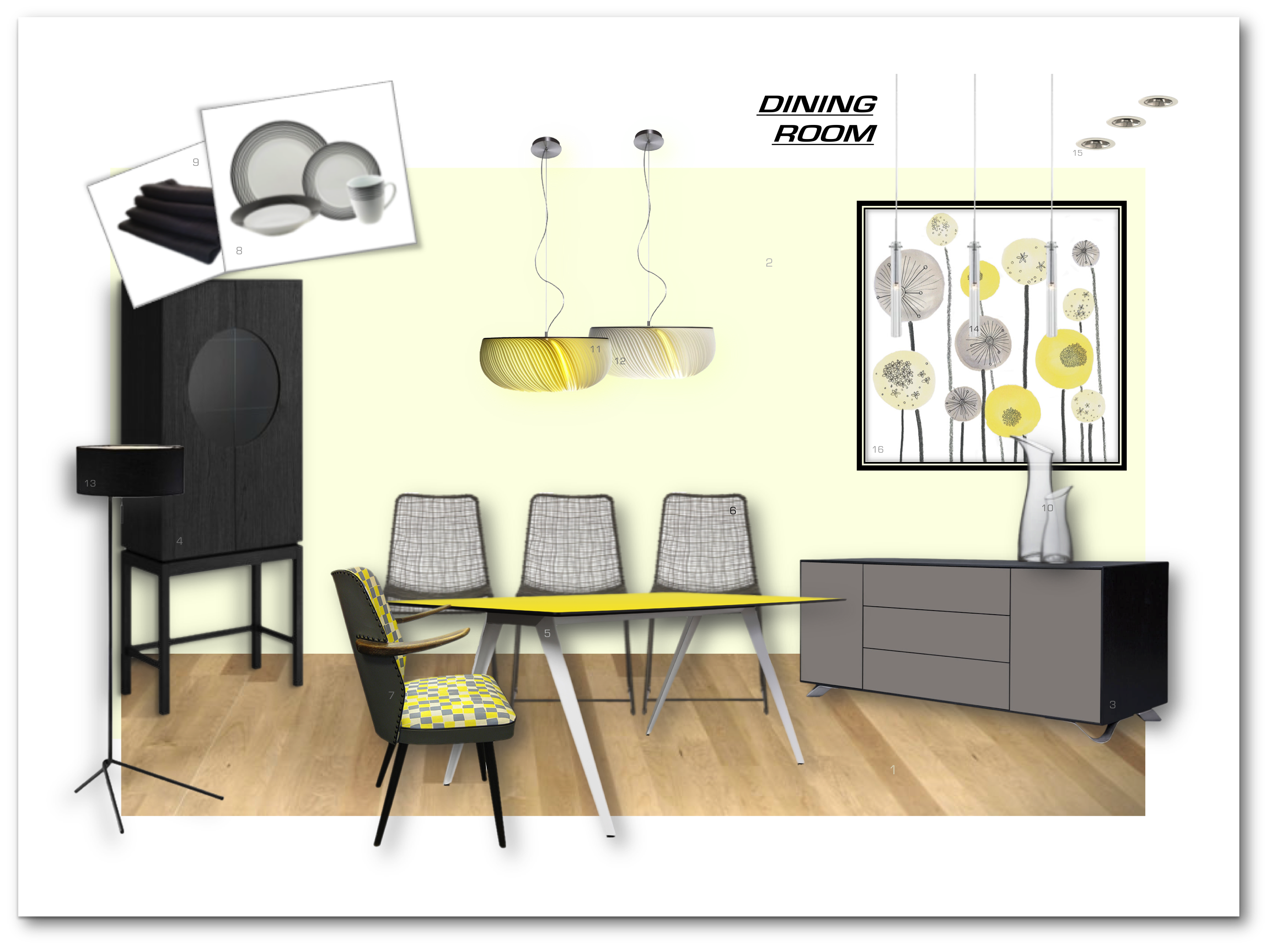 show home dining room | Dining Room, 3-Bed Show Home - Den Designery