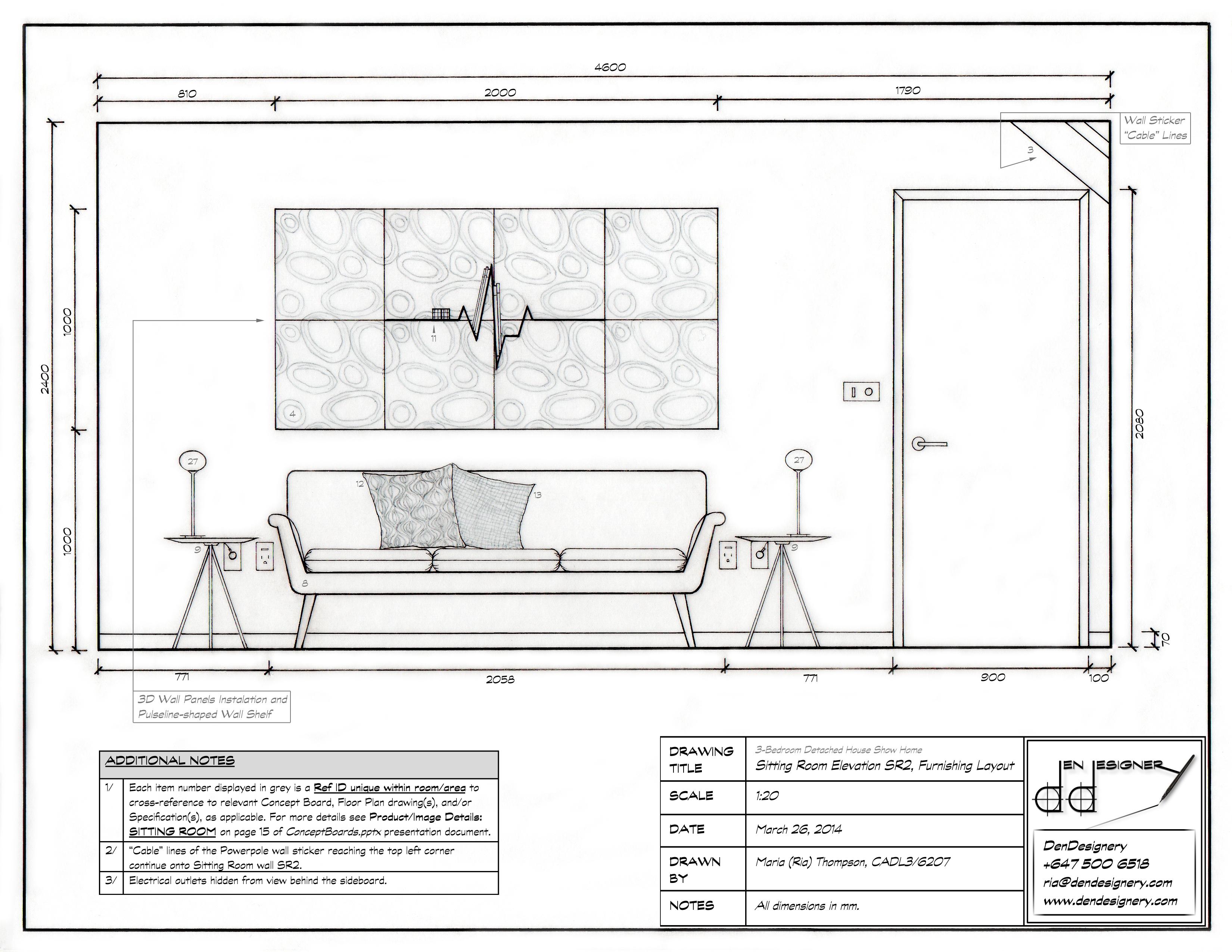 3 Bedroom Detached Show Home Drawings  Den Designery